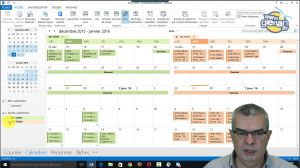 Outlook -_Calendriers__Agenda